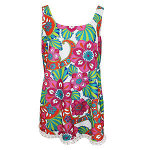 NEW LOOK Ladies Tiger Print White Racer Back Beach Tunic Dress Cover Up 8-14
