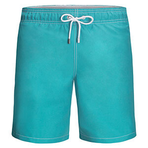 Bugatchi Madeira Solid Swim Trunks - Teal