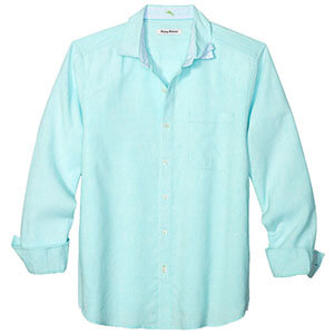 Tommy Bahama Lanai Tides Long Sleeve Linen Shirt In Blue