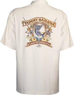Tommy Bahama Liquid Assets Signature Camp Shirt Tommy