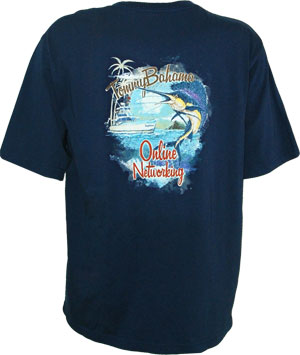 Tommy Bahama On Line Networking Tee T Shirt Tommy Bahama